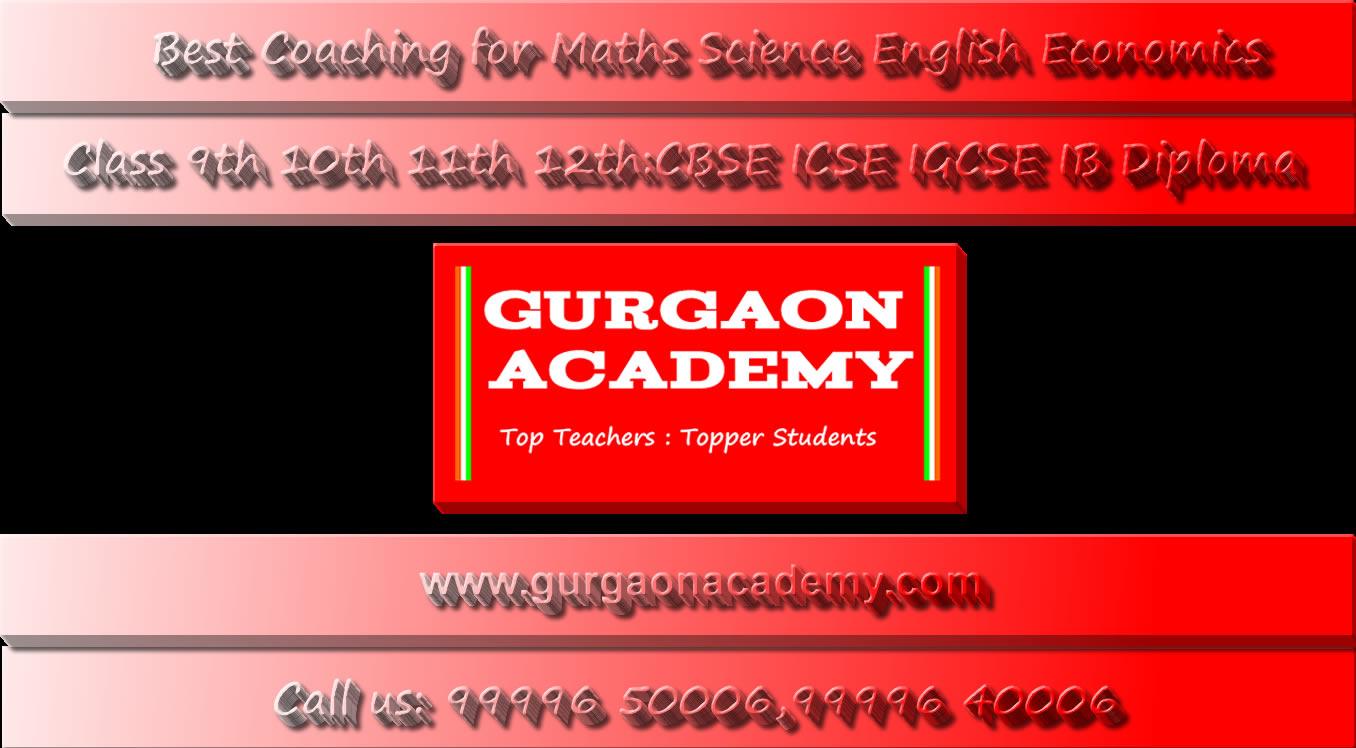 Best Coaching for Commerce Accounts Economics Maths CBSE ICSE ISC IGCSE IB in Gurgaon